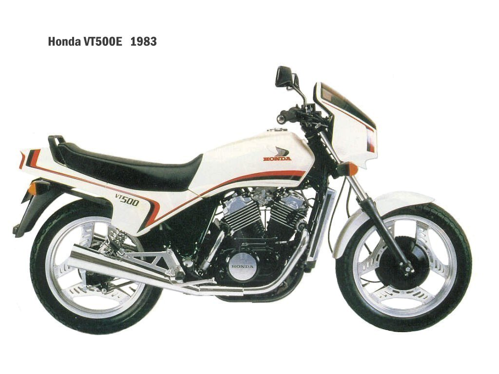 1983 Honda VT500C (reduced effect) #6