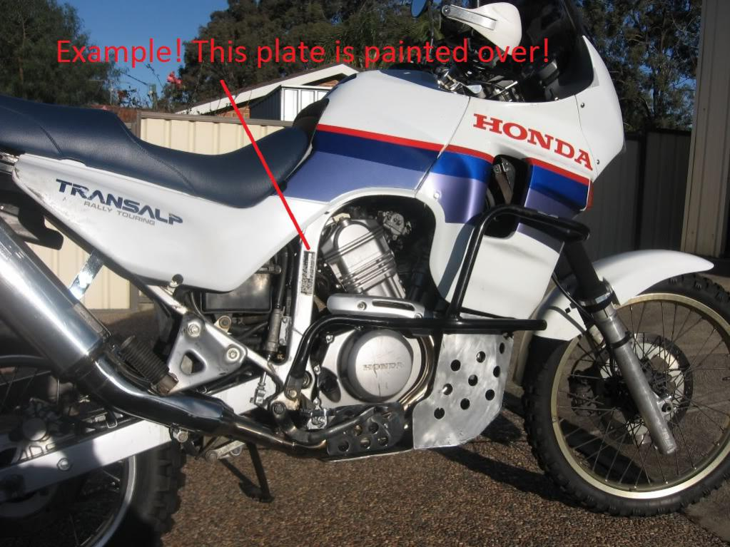 1988 Honda XL600V Transalp (reduced effect) #5