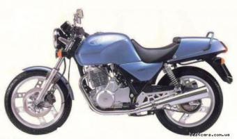 1988 Honda XBR500 (reduced effect)