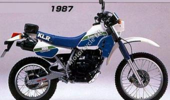 1987 Kawasaki KLR250 (reduced effect) #1