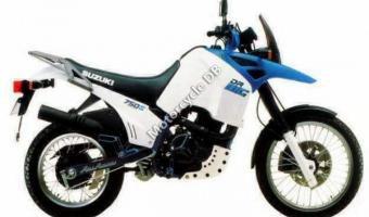 1989 Suzuki DR 600 S (reduced effect)