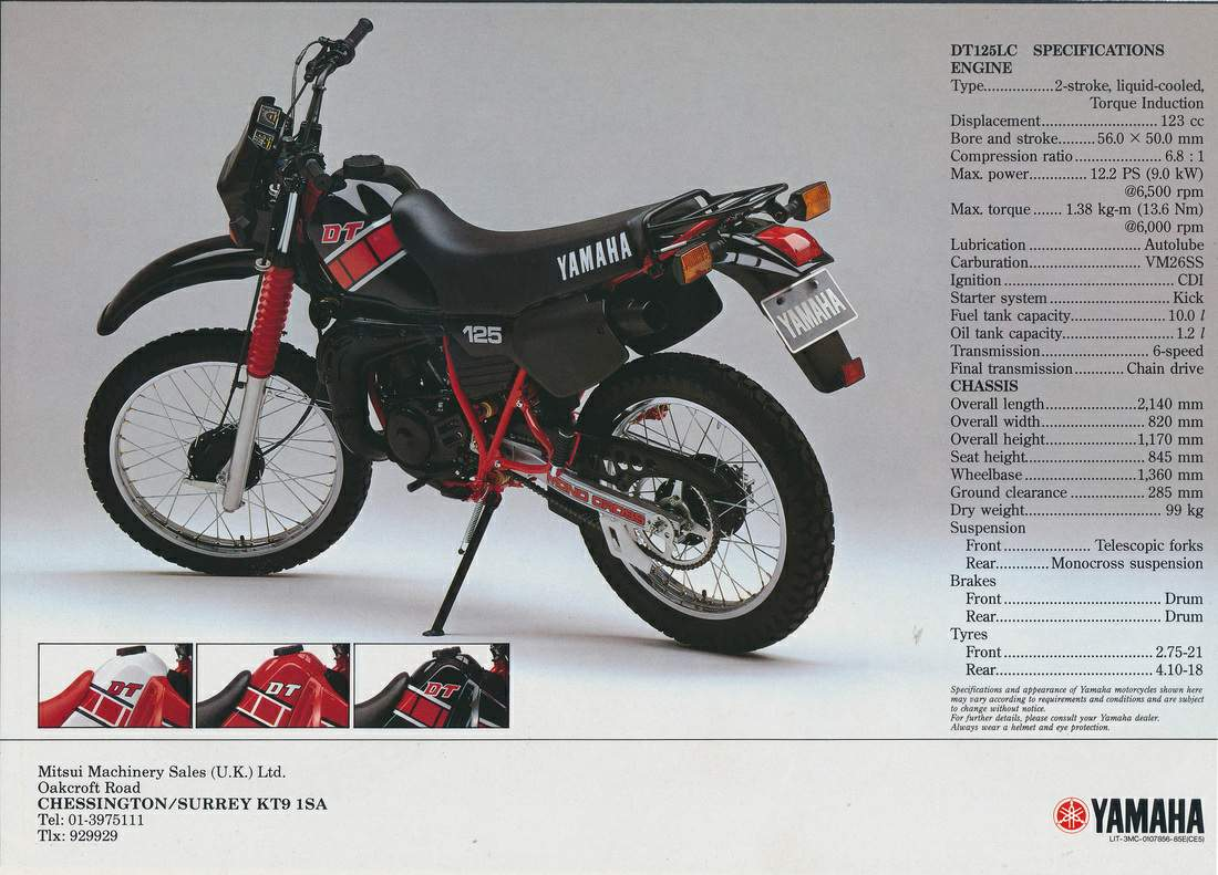 1983 Yamaha DT 125 LC Photos, Informations, Articles - Bikes ... on