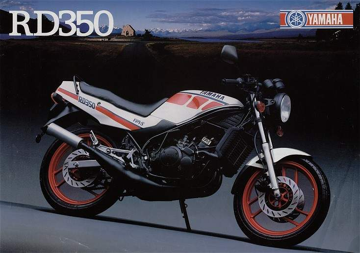 1986 Yamaha RD 350 F (reduced effect) #10